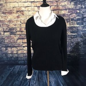 Kim Rogers Double Layered Look Sweater Size XL